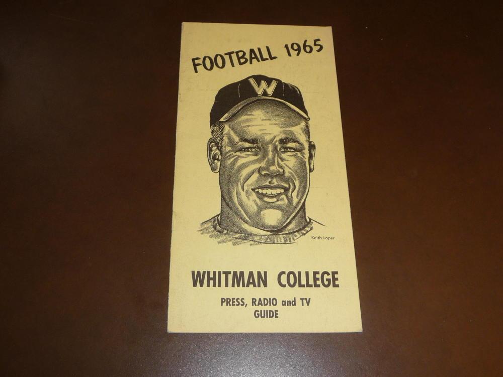 Details about 1965 WHITMAN (WALLA WALLA, WA) COLLEGE FOOTBALL MEDIA GUIDE  EX BOX 34