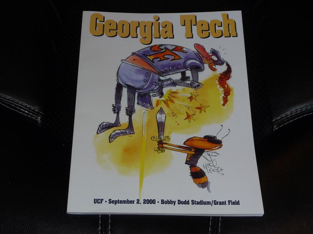 2000 Ucf Central Florida At Georgia Tech College Football Program Near Mint Ebay