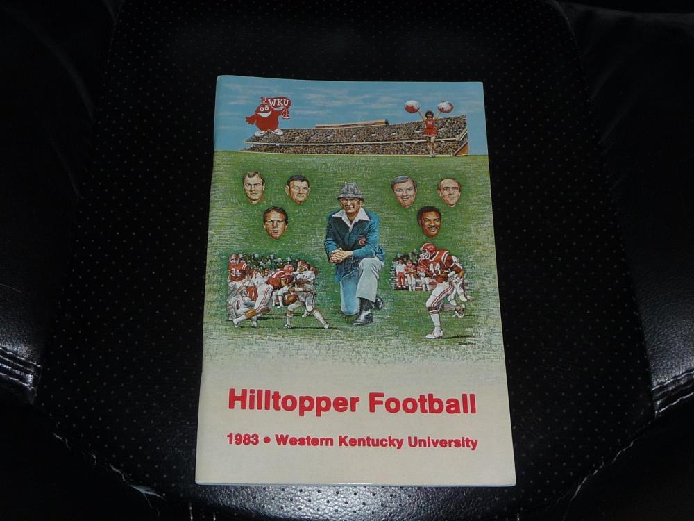 1983 WESTERN KENTUCKY COLLEGE FOOTBALL MEDIA GUIDE NEAR ...