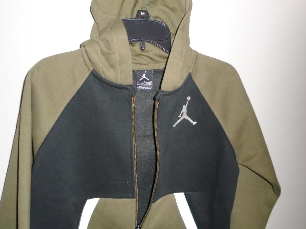 Nike Jordan Full Zip Hoodie Sweatshirt Jacket Gray Big Boys NEW Jump Man youth