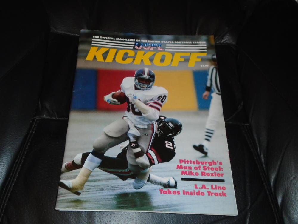 1984 USFL LA EXPRESS AT DENVER GOLD FOOTBALL PROGRAM EX-MINT STEVE YOUNG