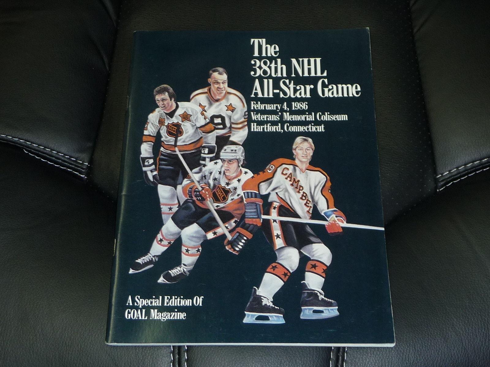 47f5d7208de 1986 NHL HOCKEY ALL STAR GAME PROGRAM HARTFORD NEAR MINT GRETZKY COVER